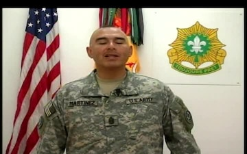 Command Sgt. Maj. Victor Martinez