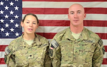 Spc. Cpl. William and Spc. Alexandria Anderson