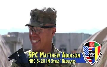Spc. Matthew Addison