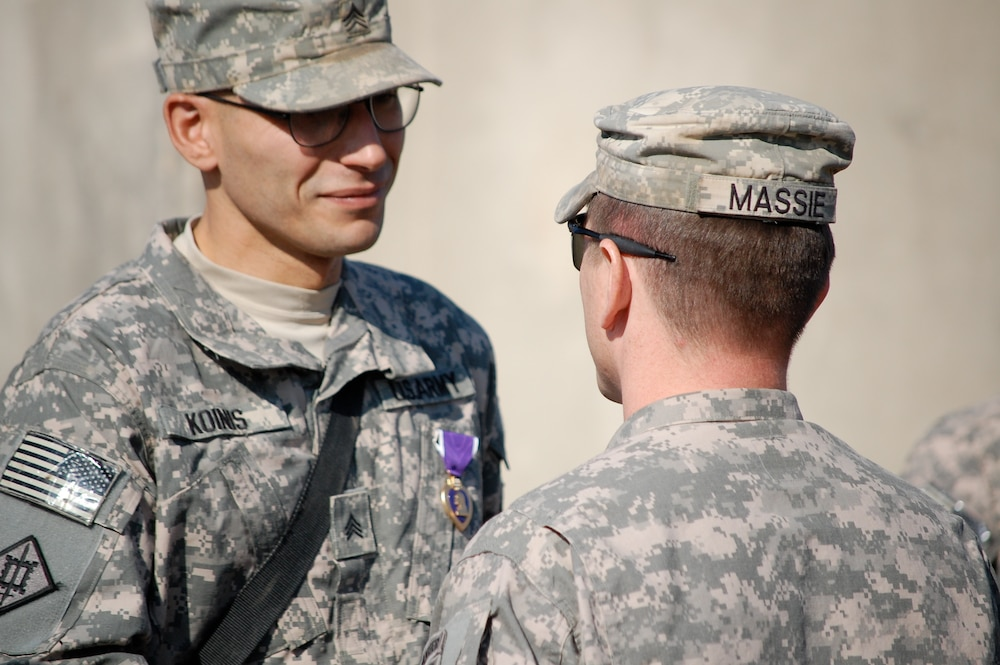 Soldiers of the 54th Engineer Battalion Receive Combat Awards