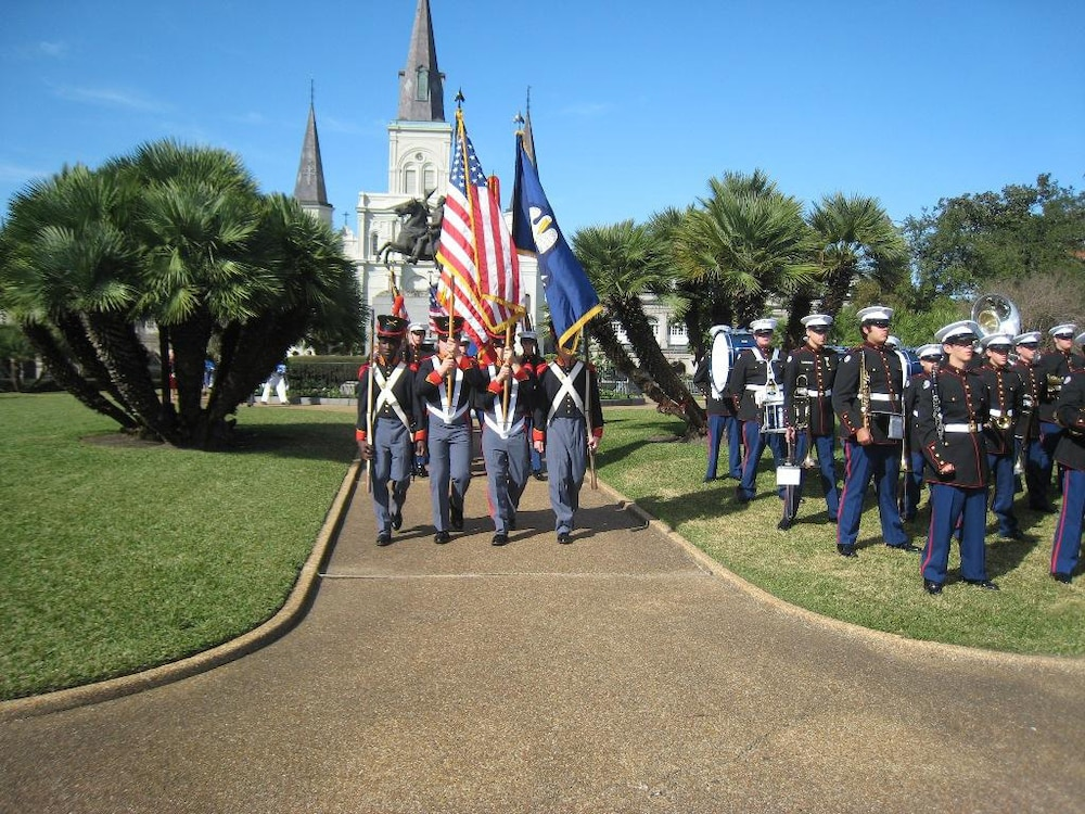 Soldiers salute, shoot to honor fallen heroes - Louisiana National Guard participates in Battle of New Orleans ceremony