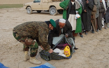 Afghan army, police assist northern Afghan village humanitarian assistance mission provides needed relief, medical supplies
