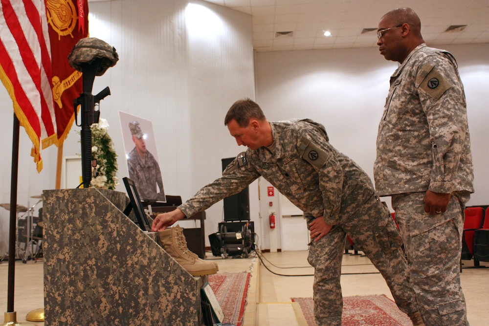 595th Terminal Transportation Group Soldier Honored in Memorial Ceremony at Camp Arifjan