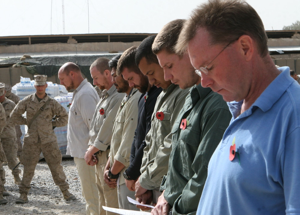 Marines, Afghans, British observe Remembrance Day