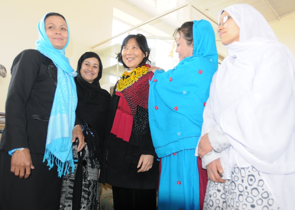 Mrs. Eikenberry Delivers a Message of Unity to the Women of Ghazni