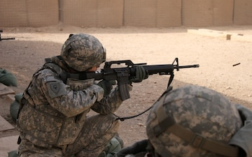 TF 38 troops continue weapons proficiency while deployed