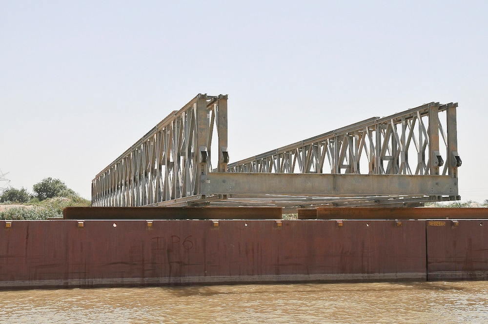 Bridge to the Future Under Construction in Central Iraq