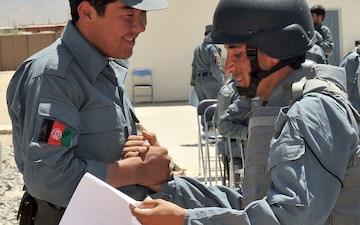 ANP Trainees Graduate 6 Week Course at FOB Ghazni