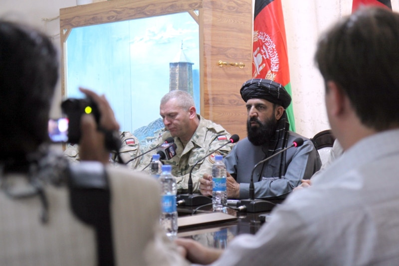 Ghazni Leaders Address Media After Visiting Poland
