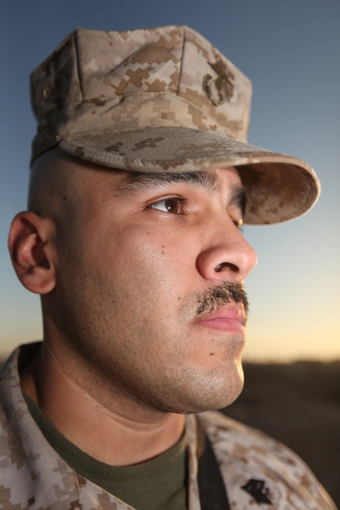 Marines grow 'Afghanistache' for men's health awareness