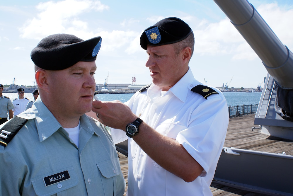 South Dakota National Guard Officer promoted aboard the USS Missouri