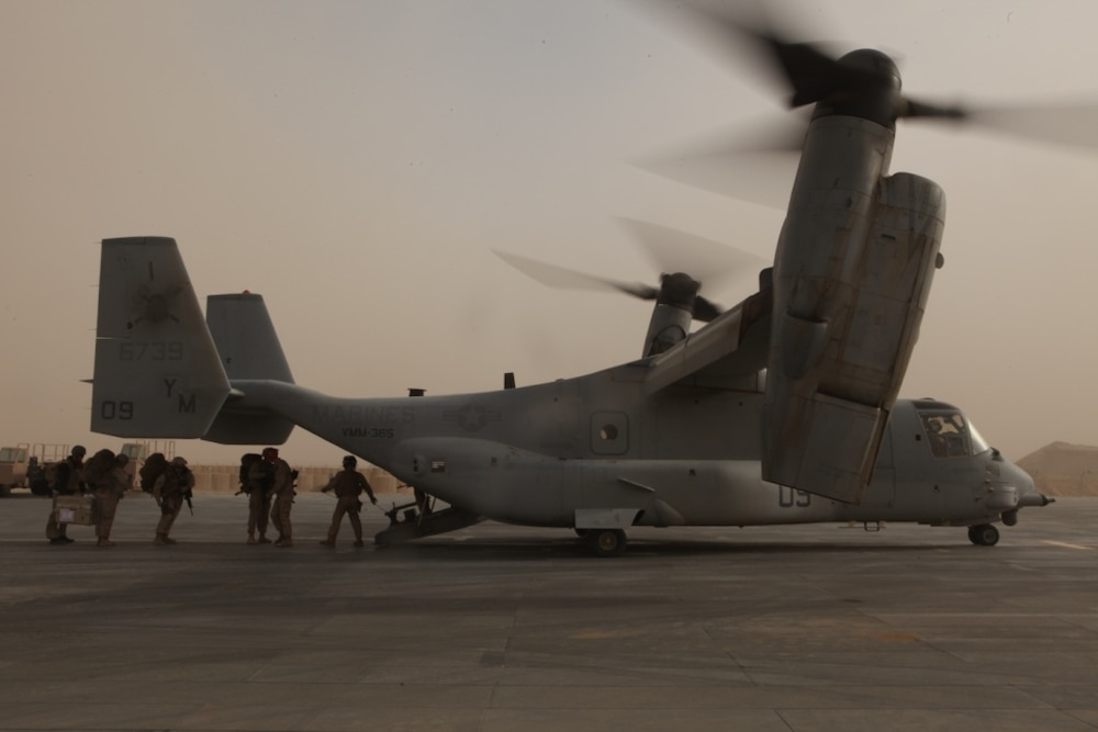 Landing support Marines prove sky is the limit
