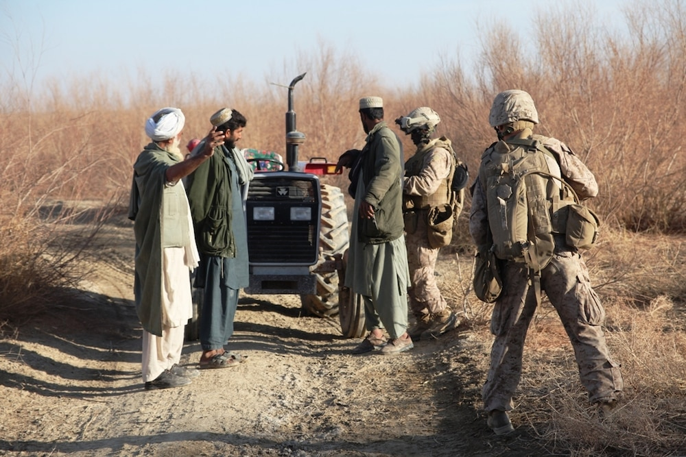 Marines, ANSF find weapons caches, secure southern river valley