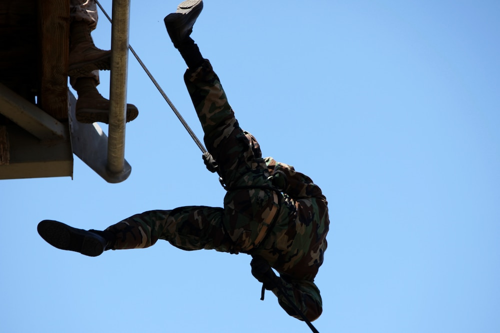 SOTG teaches rappelling skills to Naval Academy midshipmen