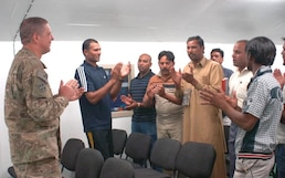 Chaplain facilitates worship for unique group at Bagram Air Field