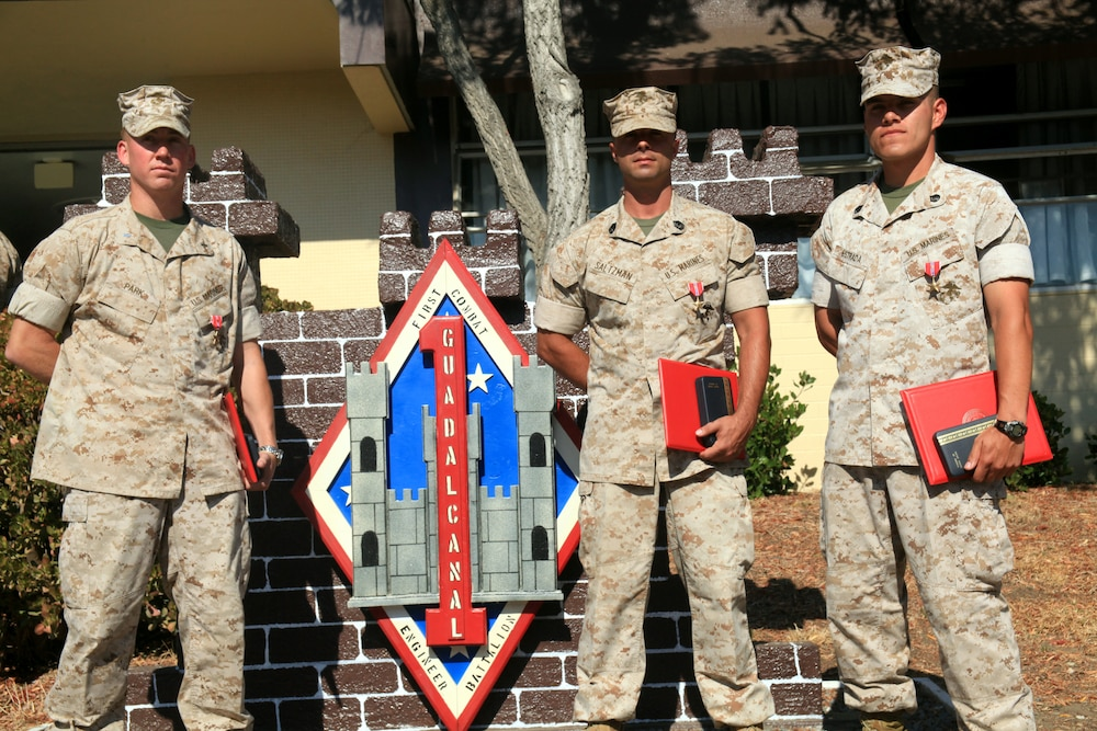 Super Breed Marines receive Bronze Stars
