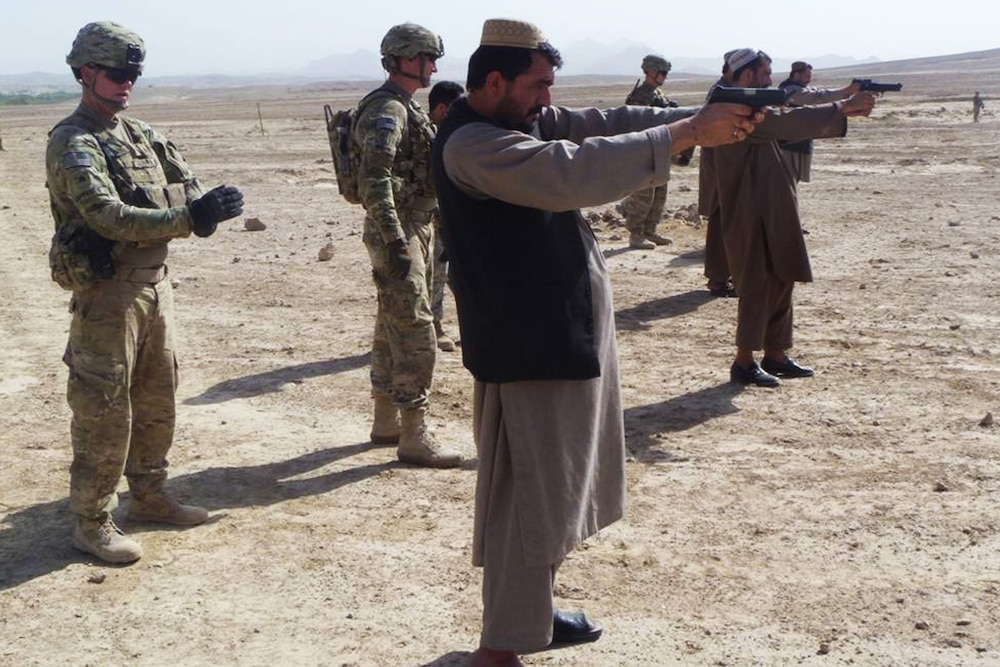 SFAT train Afghan bodyguards