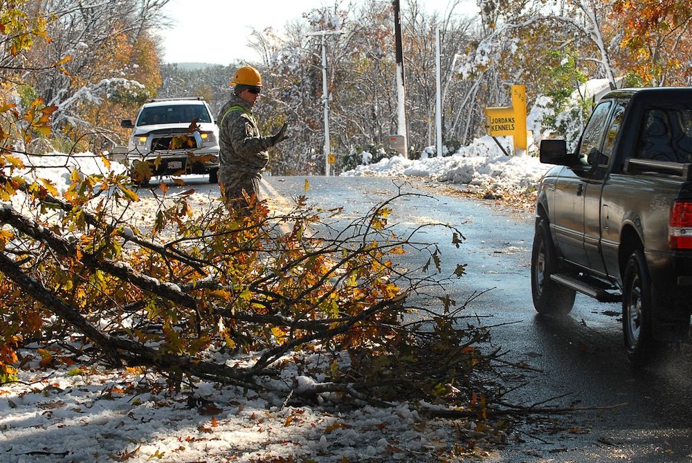 Guard mobilizes after severe October snowstorm