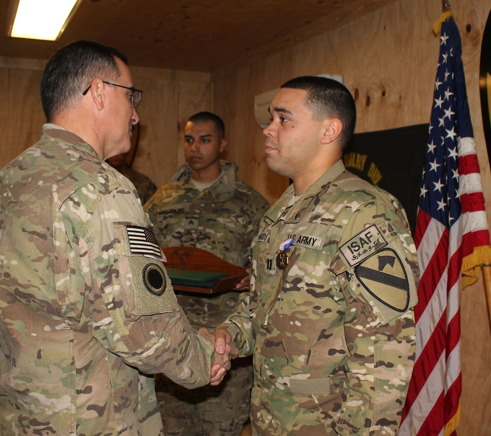 Soldier awarded Army's highest peacetime award for valor: the Soldier's Medal