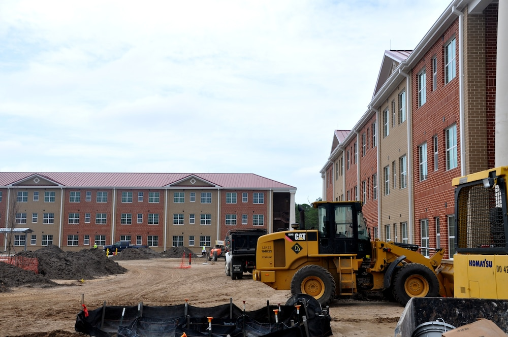 Barracks construction at Fort Stewart