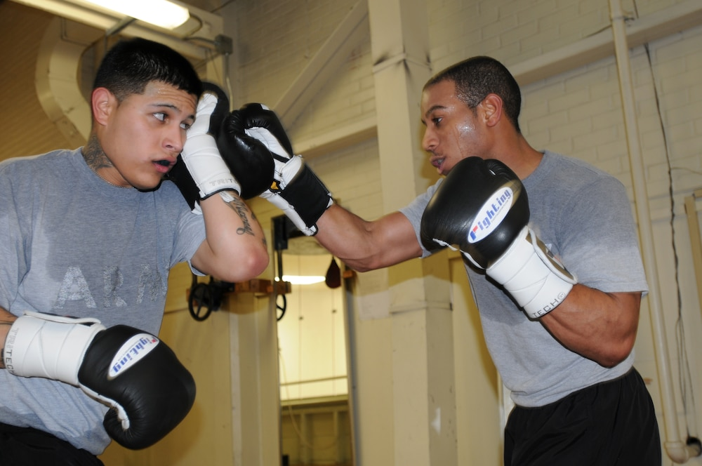 Air Defense Soldiers train for upcoming boxing tournament