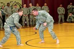 Lancer soldiers go to the mat
