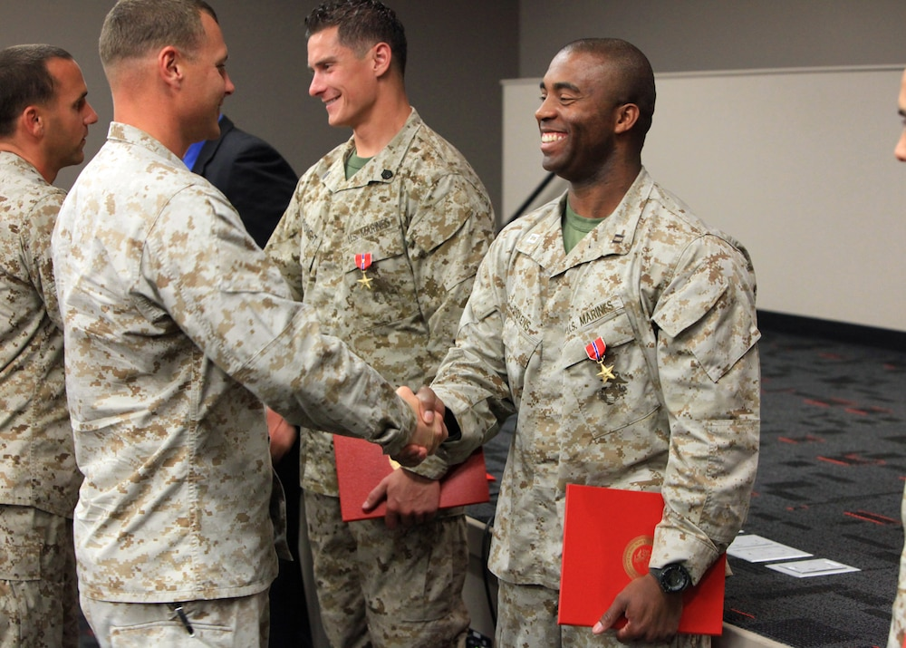 MARSOC's All-Star team awarded Bronze Stars