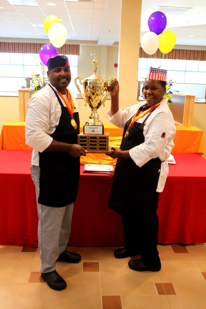 Food service specialists compete for chef of the quarter