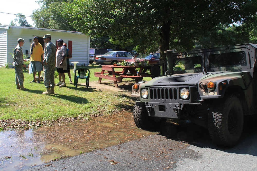 Va. Guard soldiers conduct recon patrols to assess storm impact