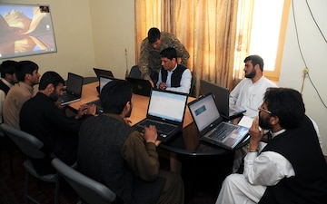 Computer classes help Afghan government prepare for future