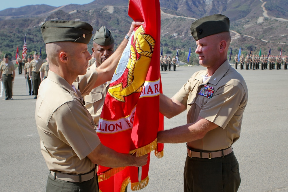 'China Marines' of 1st Battalion, 4th Marine Regiment receives a new commander