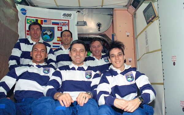 STS-88 inflight crew portrait