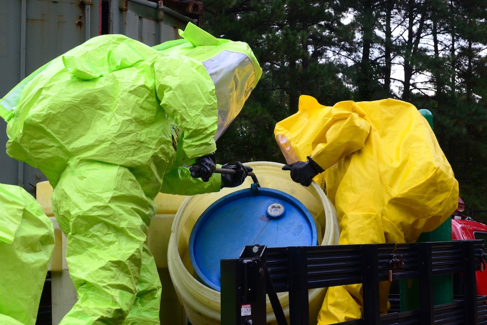 Army, NG Firefighters 'suit up' for HAZMAT