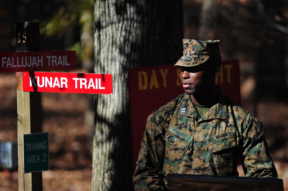 Trails dedicated to the heroism of Marines from Fallujah, Sangin and Kunar