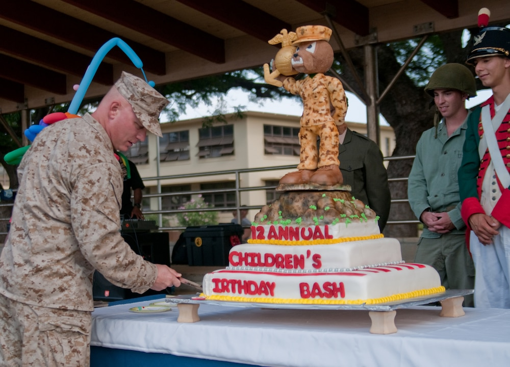 Families celebrate Marine Corps birthday at 12th annual Children's Birthday Bash