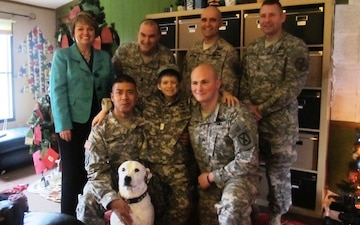 10th Mountain Division soldiers name second-grader 'honorary sergeant'
