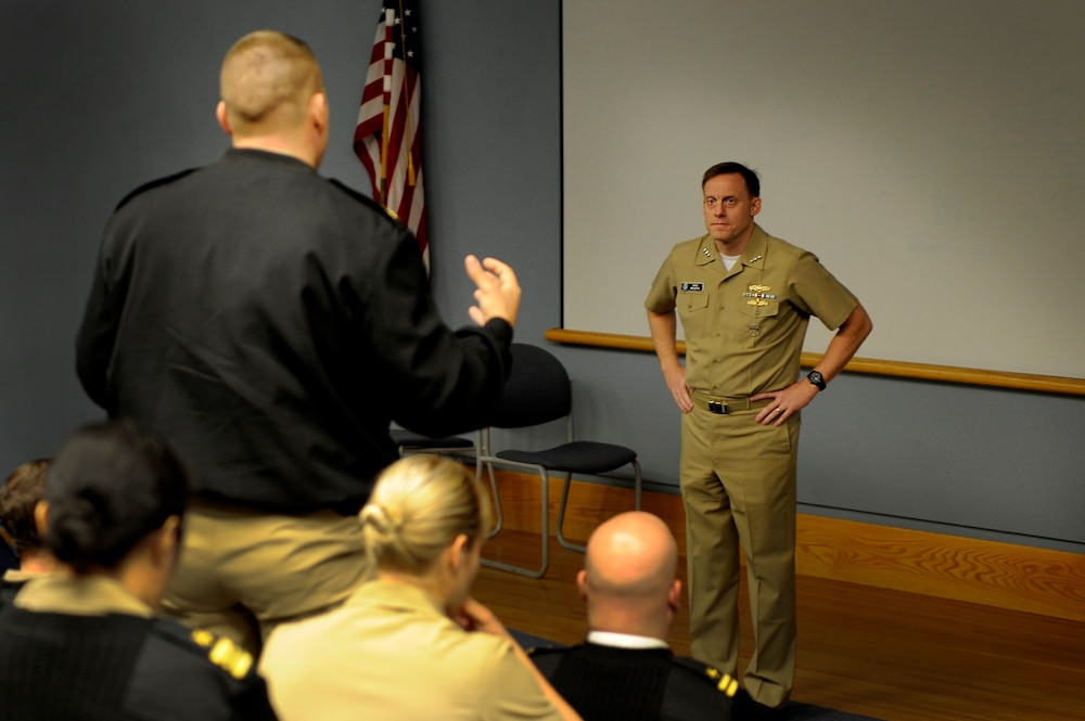 Navy's Cyber commander addresses NPS Information Dominance Corps students