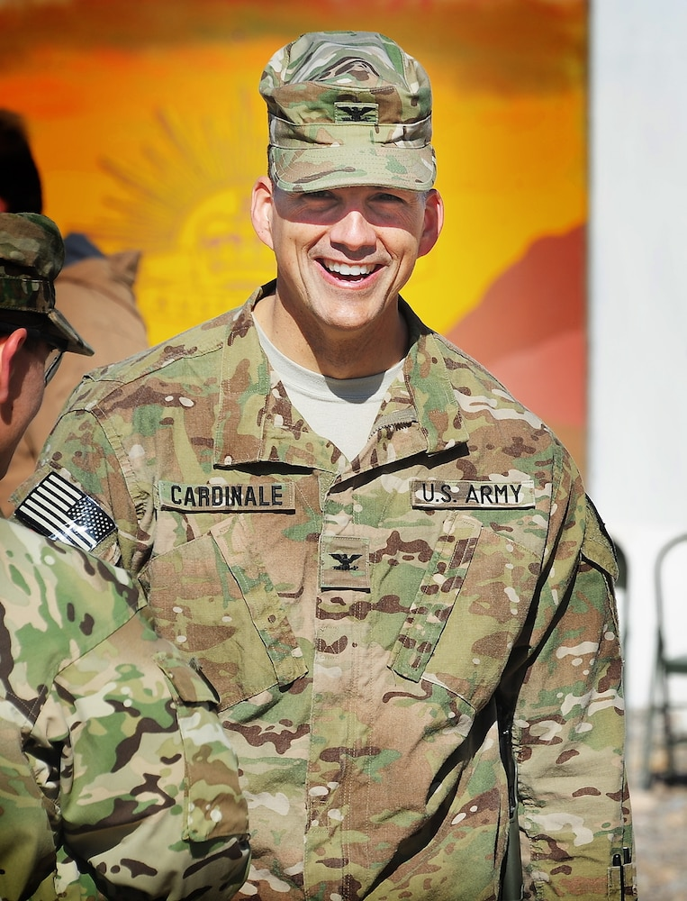 Change of Command for troops in charge of base security and sustainment