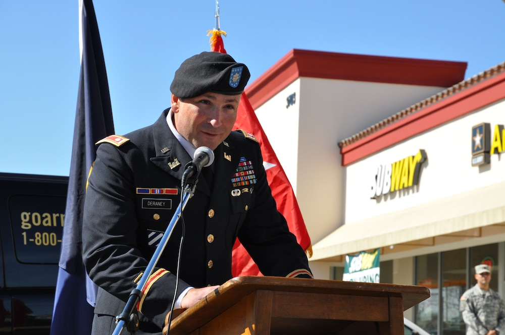 District deputy commander speaks at El Monte Recruiting Center grand opening