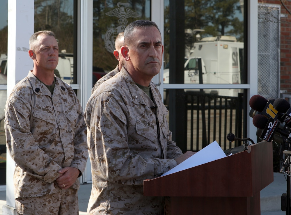 2nd Marine Division commanding general offers condolences, remarks