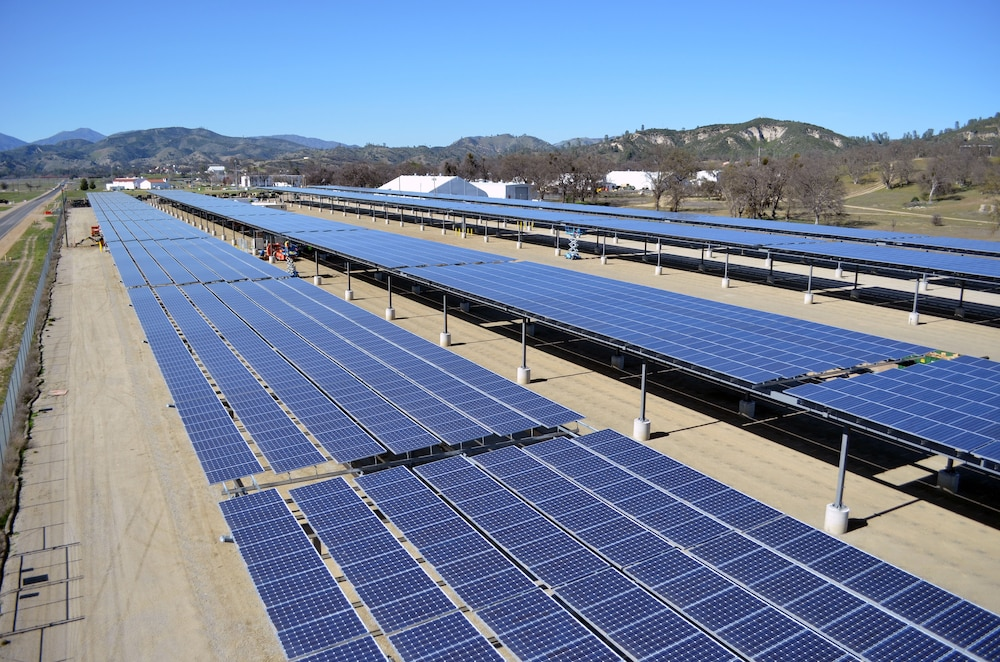 Solar project at Fort Hunter Liggett