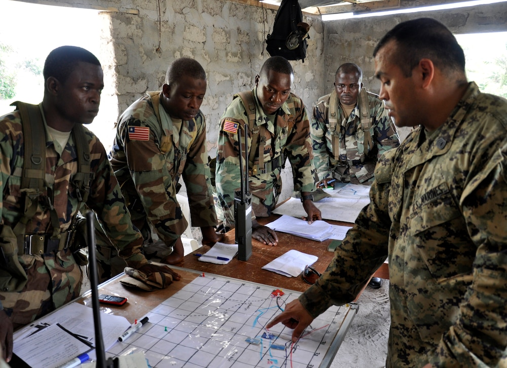 AFL soldiers and ONWARD LIBERTY mentors conduct command post exercise