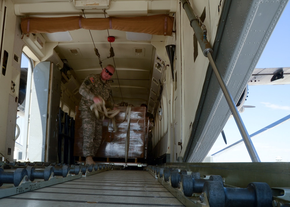 National Guard aviation unit moves MREs for tornado relief as aircraft nears retirement