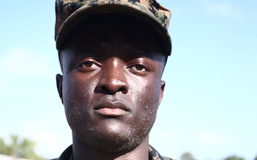 Parris Island recruit overcomes tragedy in Africa for new life in Marine Corps