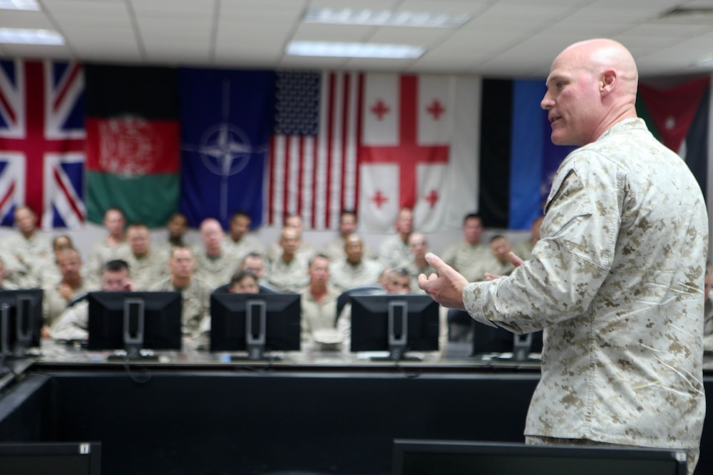 Sgt. Maj. of the Marine Corps visits 215th SFAAT