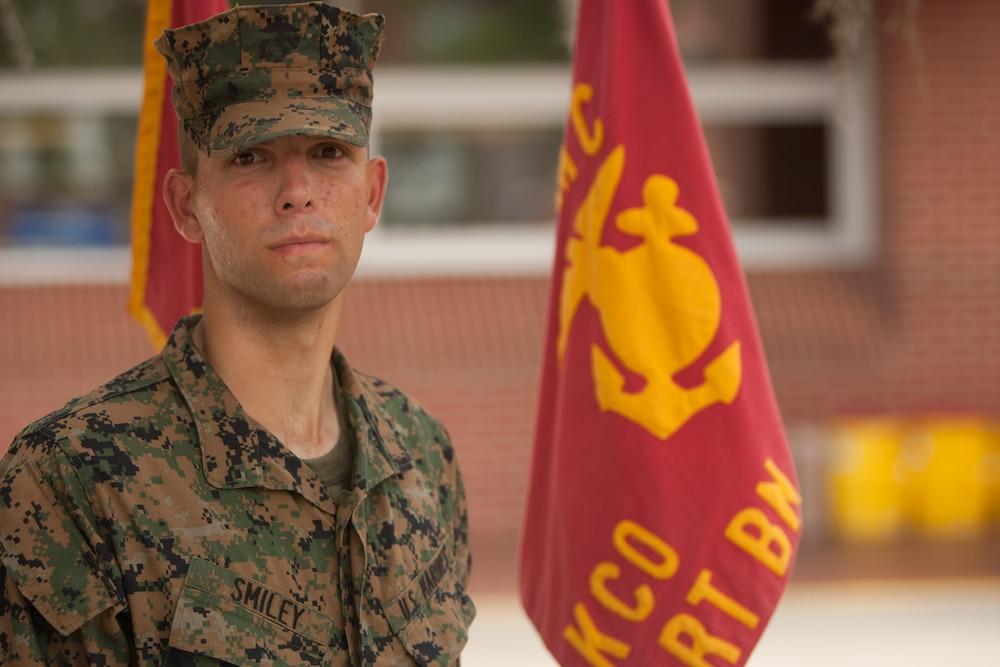 Columbus, Ohio, native training at Parris Island to become U.S. Marine
