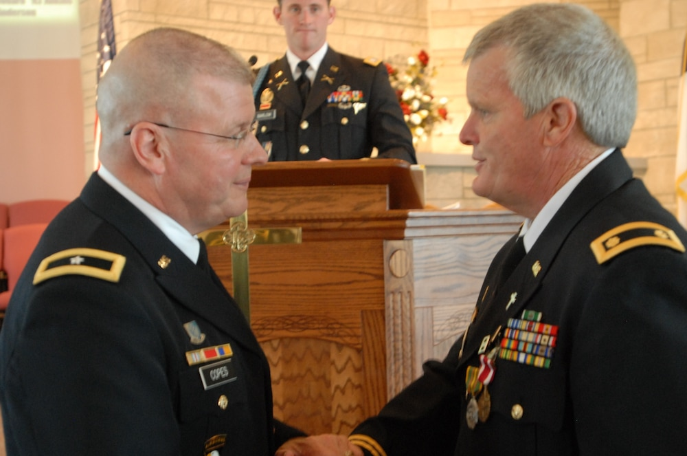 Major Barlow retirement from Indiana National Guard