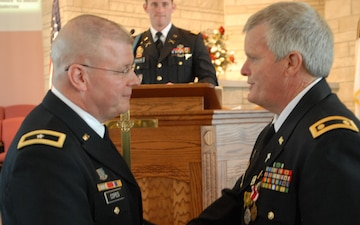 Chaplain Barlow retirement from Indiana Army National Guard