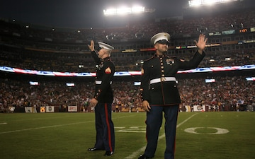 Wray-native Marine recognized at Redskins game
