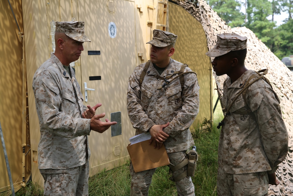 From students to teachers: supply Marines instruct officers in the field